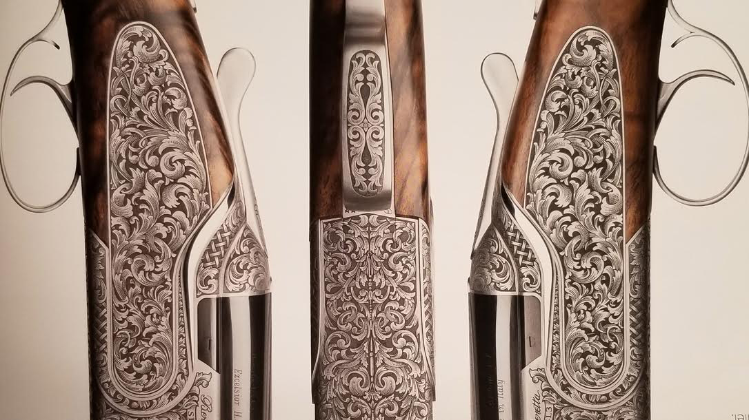 Beretta SL3 Premium Shotgun, launch, engraved