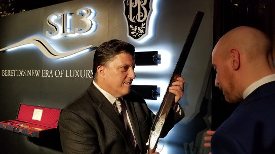 Beretta SL3 Premium Shotgun, launch, event