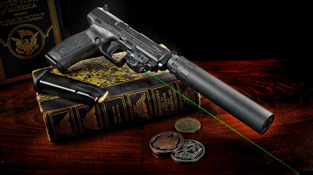 Canik TP9SFT pistol review, laser