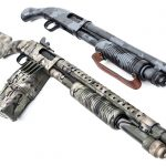 Mossberg 590 Shotguns, camouflage, camo shotguns, duo