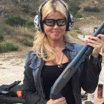 Donna D'Errico guns, shotgun
