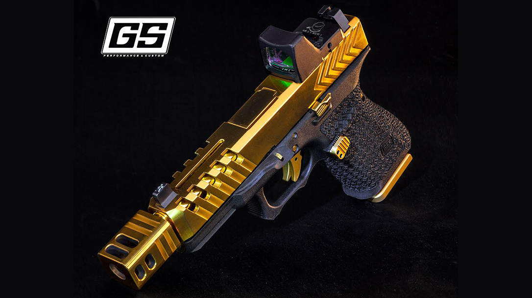 Custom Glock Builds, GlockStore, gold compensator