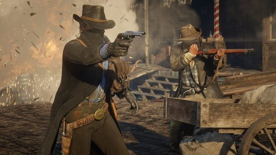 Red Dead Redemption 2 guns, shootout