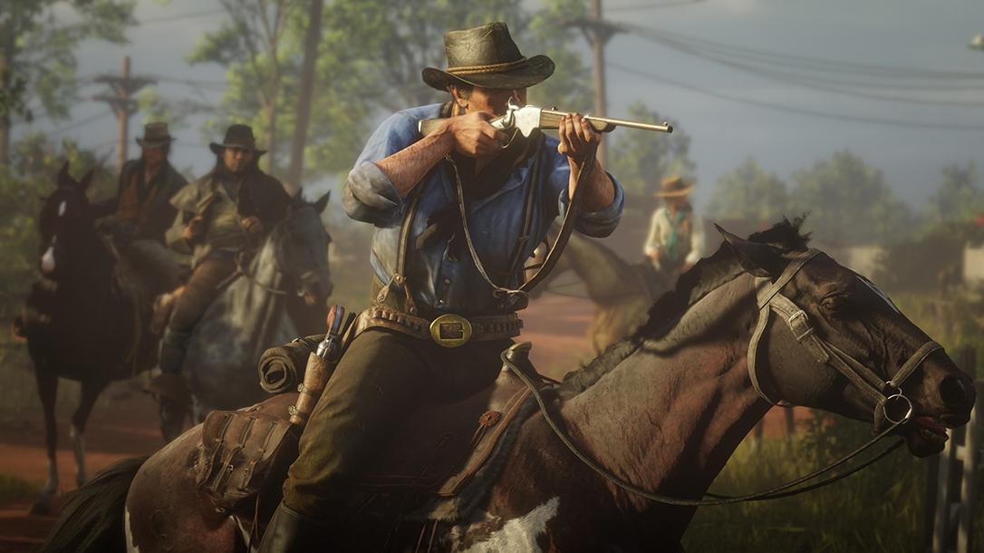 Red Dead Redemption 2 guns, rifle