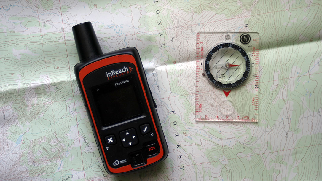 Navigation Tools, GSP, compass, map, Alaskan wilderness