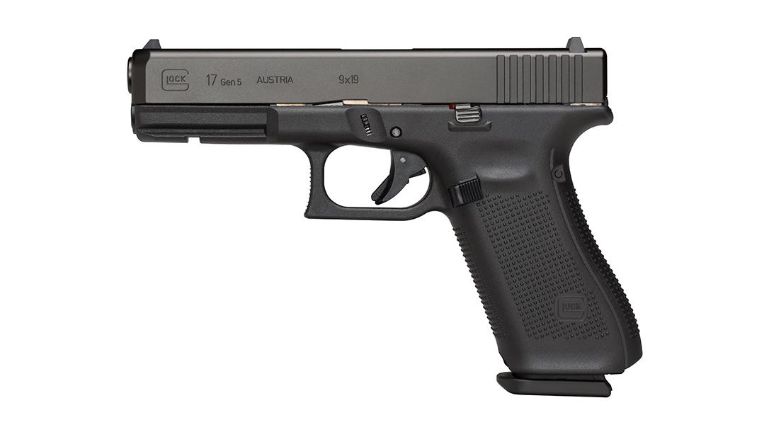 Glock 17, G17 pistol, top Glock