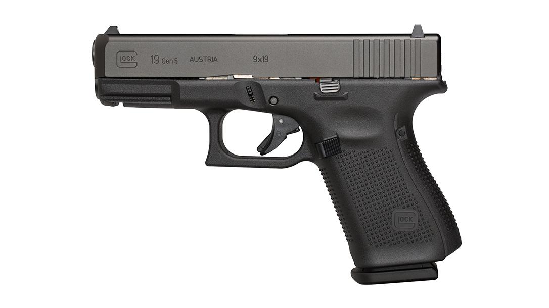 Glock 19, G19 pistol, top Glock