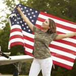 Gabby Franco, American Flag