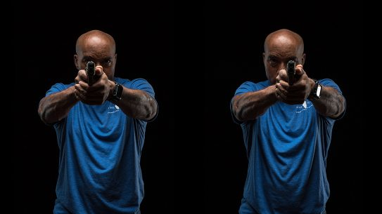Cross-Eye Dominant Shooting, pistol