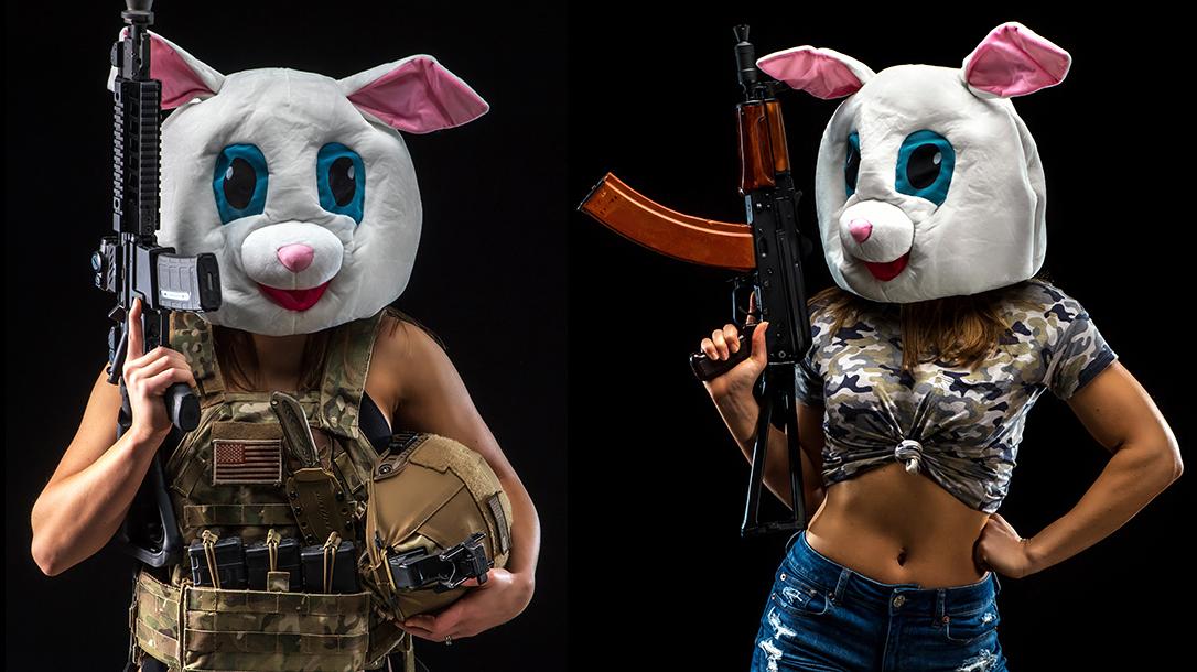 military gun bunny