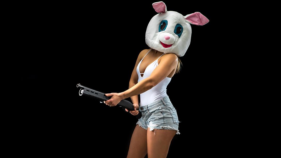 gun bunny, shotgun