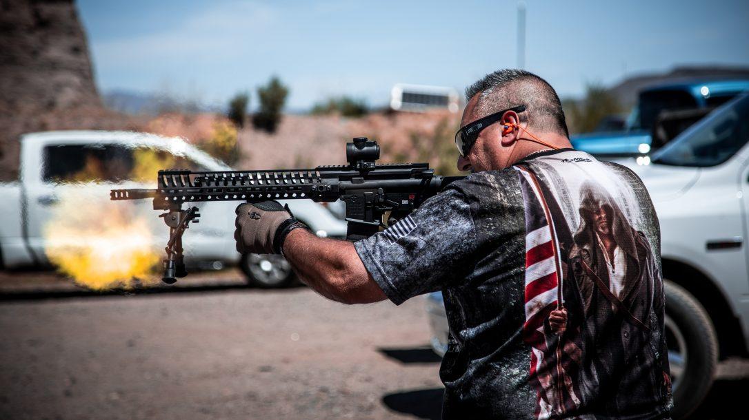 Frank DeSomma, POF-USA, Patriot Ordnance Factory, firing
