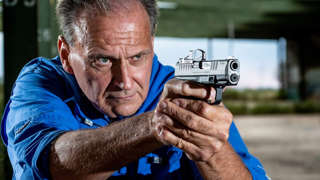 Springfield Hellcat testing, review, 9mm pistol, range