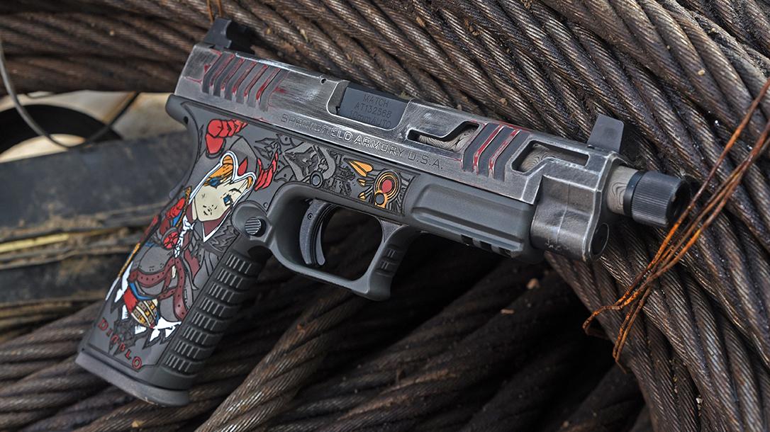 Odin's Workshop custom pistol build, Springfield Armory, left