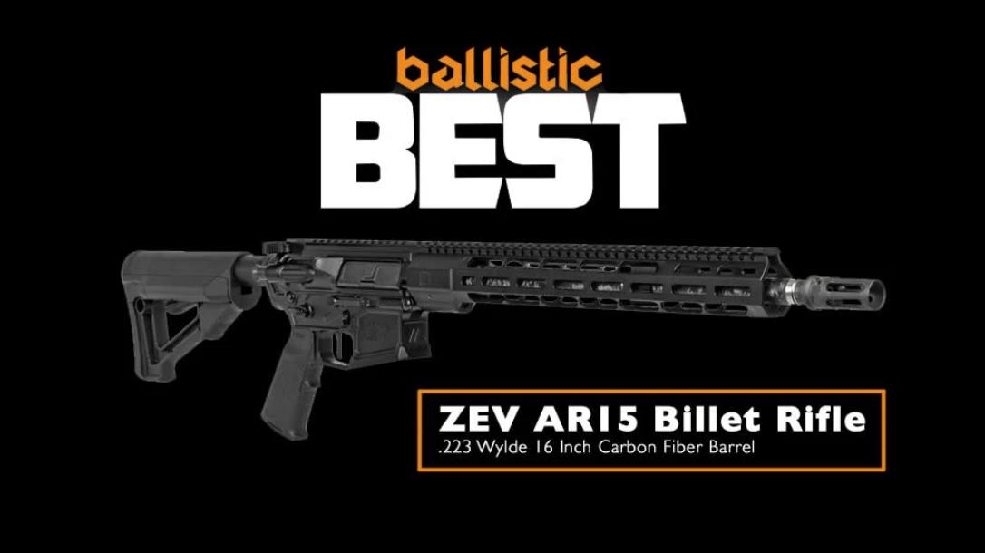 ZEV AR-15 Billet Rifle, 2019 Ballistic Best Reader's Choice Awards