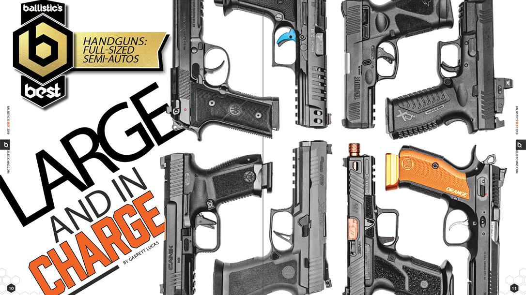 Top Full-Size Semi-Auto Handguns, Roundup, comparison