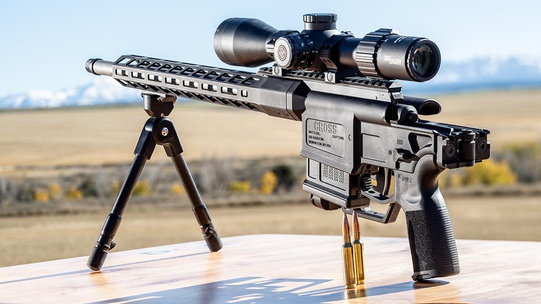 Sauer Bolt-Action Rifle, Folded, range