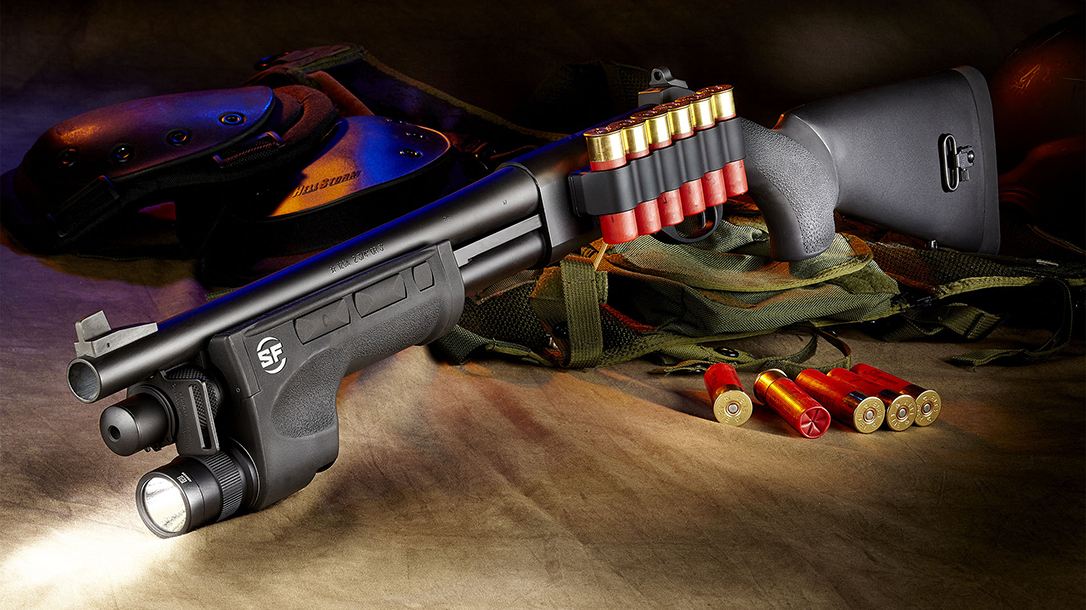 Wilson Combat Professional Shotgun, Short Barrel Shotgun, light fore-end, lead