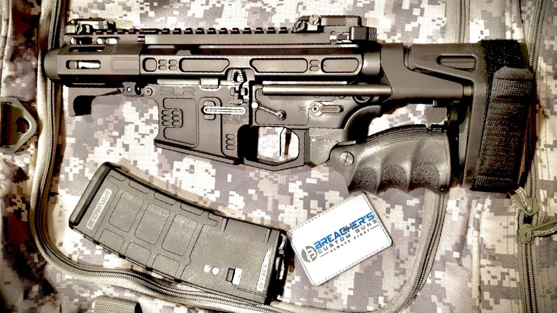 AR9, Lil Nina AR Pistol, folded grip