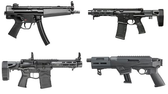 Bug Out Guns, AR-pistols, SBR options, lead