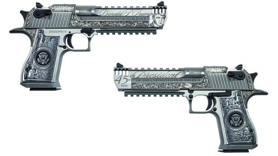Magnum Research Presidential Desert Eagle, Trump Desert Eagle, lead