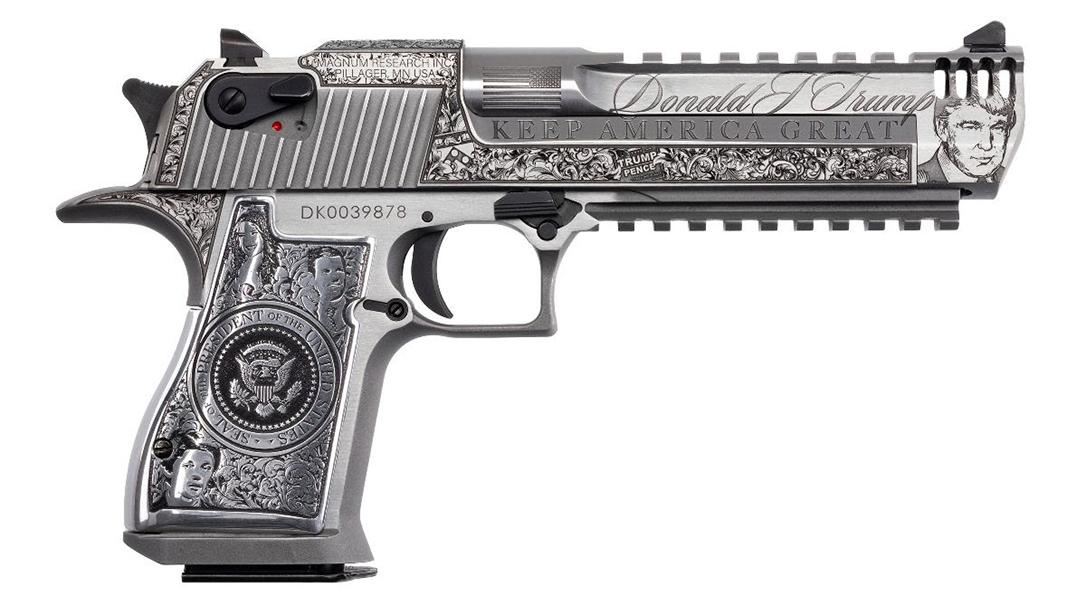 Magnum Research Trump Pistol, .50 AE, right