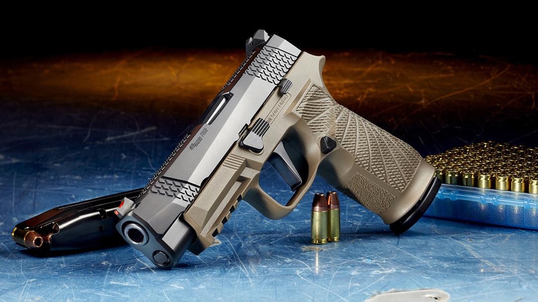 Wilson Combat WCP320, SIG P320, Wilson Combat P320 pistol, tan, left