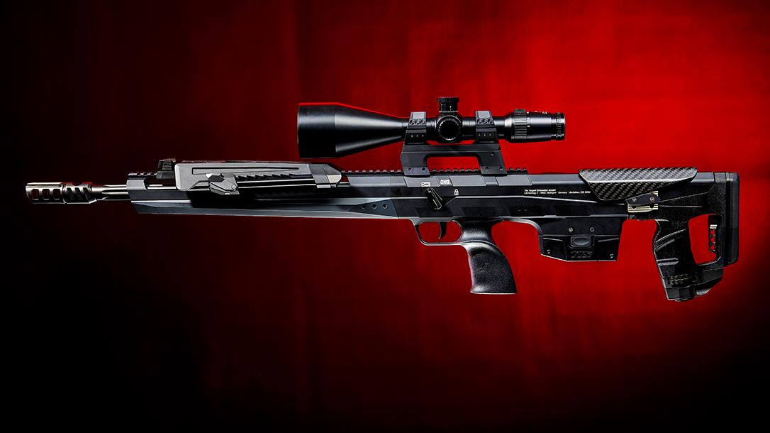 Tec Target Schneider TTS Xceed sniper rifle, bullpup, left