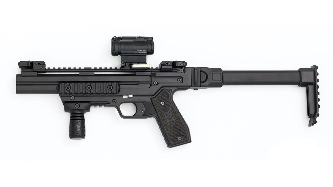 Detonics Carbine Shotgun, Micro Combat Double Barrel Shotgun, left