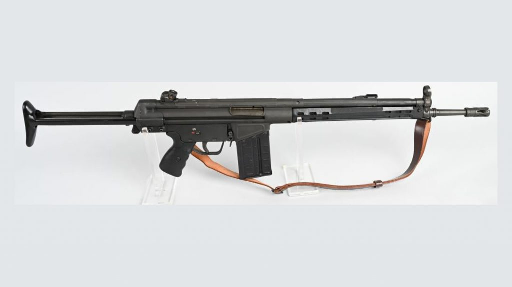 Heckler & Koch rifle, semi-auto, auction, right