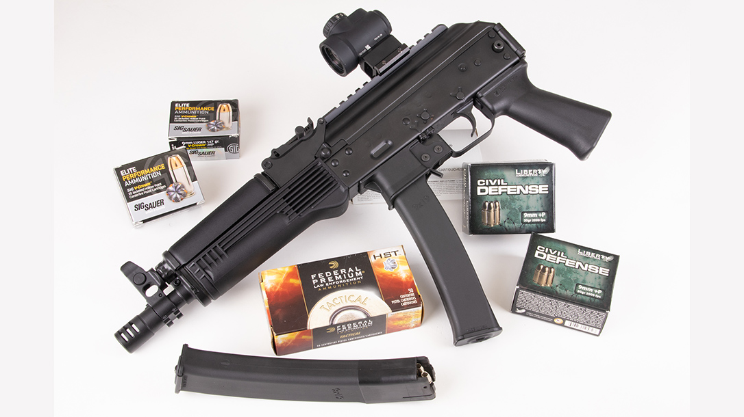 Kalashnikov KP-9 review, test, 9mm pistol, optic
