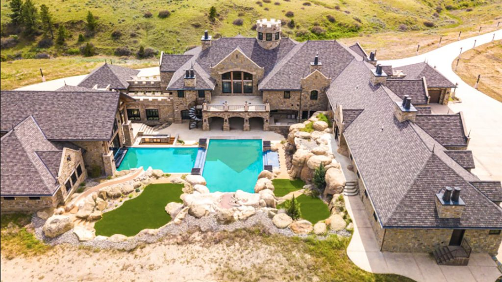 Montana Mega Mansion, indoor shooting range, gun range, pool