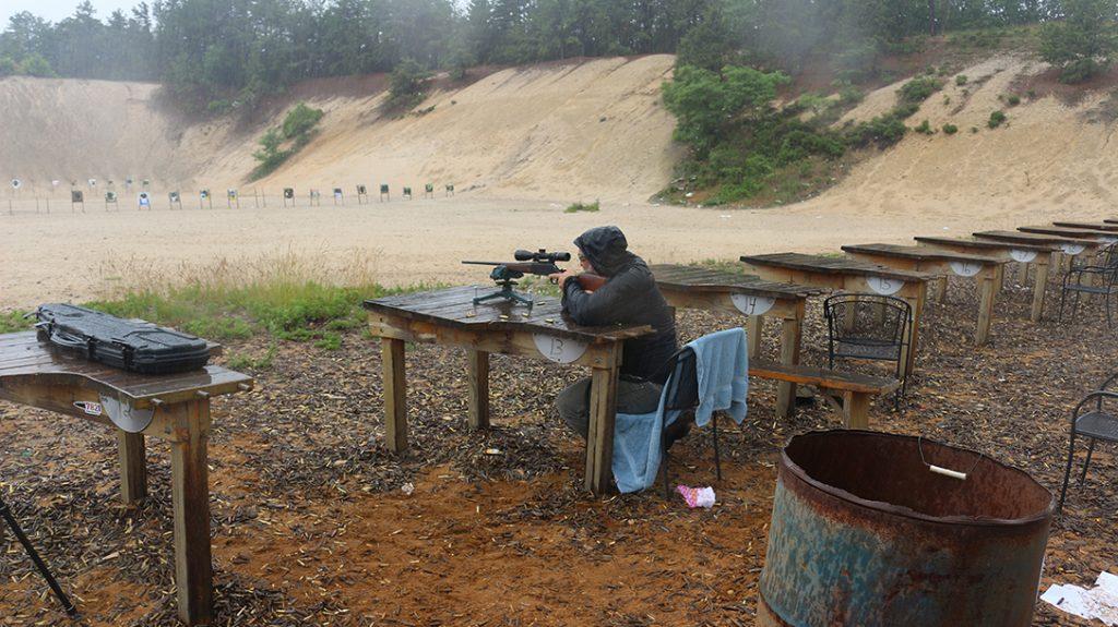 6.5 creedmoor lever-action rifle test, rain