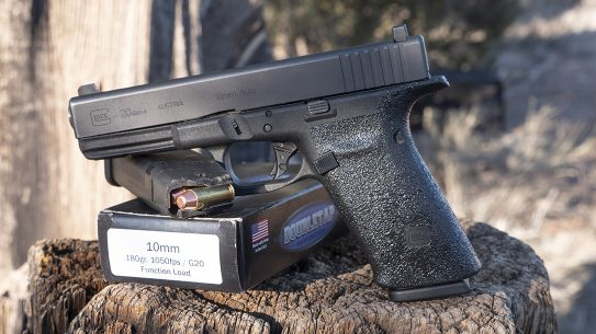 Glock 20 Gen 4 10mm Pistol review, G20, left