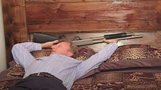 Gun Bed storage, hidden gun compartment, headboard