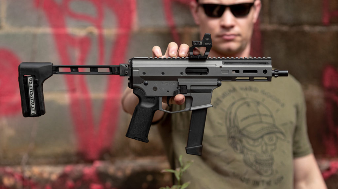 Angstadt Arms MDP-9 Pistol, 9mm, AR9, lead