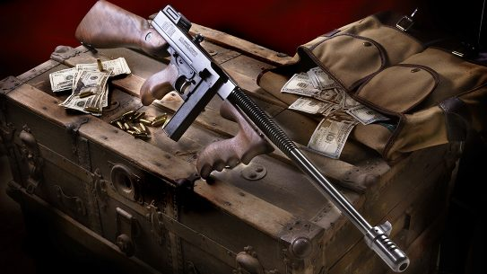 Auto-Ordnance 1927A-1C Lightweight Deluxe, 9mm Tommy Gun, Auto-Ordnance 1927 Thompson, lead