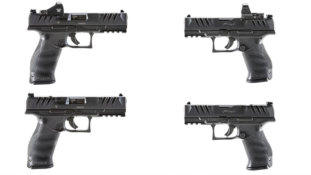 Walther PDP Performance Duty Pistol line, compact, full size, lead
