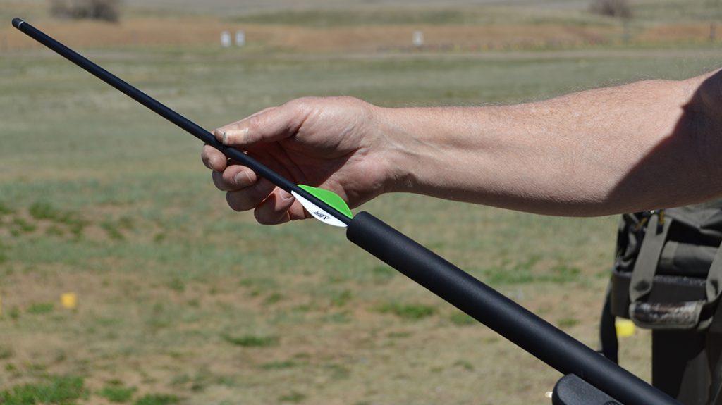 22 rifle, arrow gun, arrow load