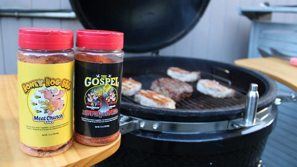 Meat Church BBQ rub, grilling