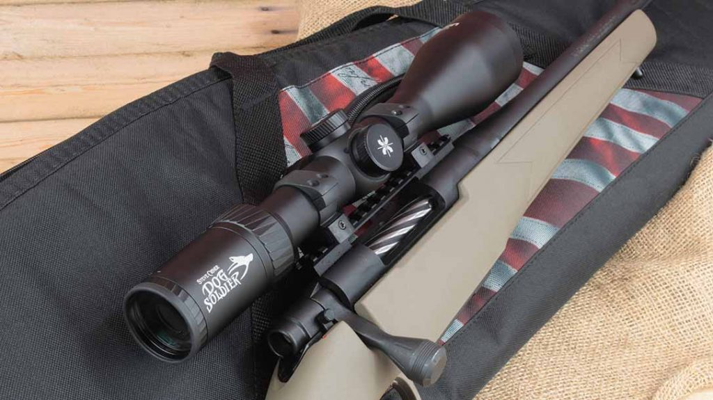 Mossberg Patriot Predator Rifle, Axeon Optics Dog Soldier scope