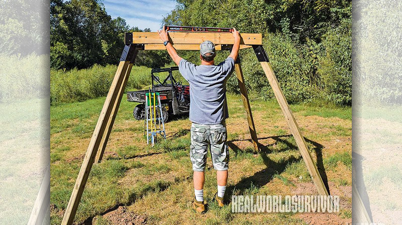 Setting the elevated platform so that it is level is important to the reassembly of the stand.