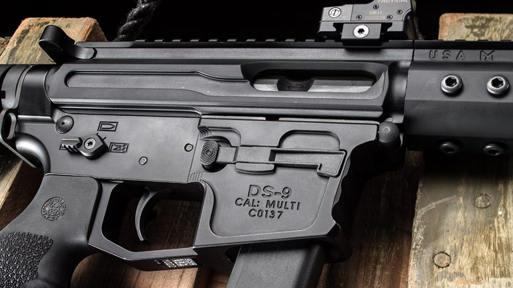 The DS-9 features an ambidextrous safety selector