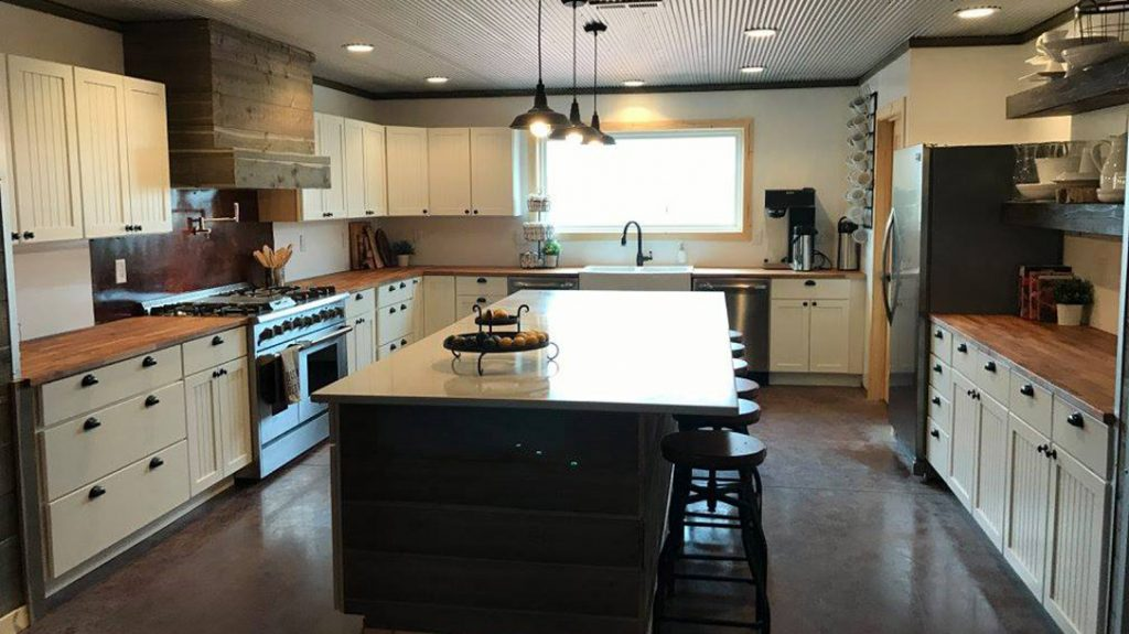 """The """"upscale ranch cooking"""" at the High Bar Homestead is provided by Chef Tex in the gourmet kitchen."""