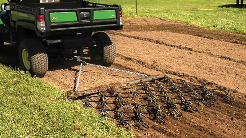 farmland, ATV, all-terrain vehicles, farming, ATV Chain Harrow