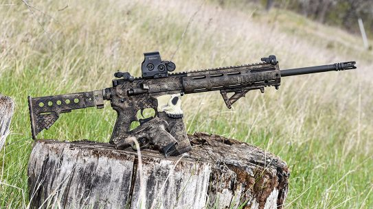 Odin's Workshop, located in Michigan, is known for their amazing colorful work on Glock and Sig P320 frames but can handle any job, like the authors personal Ar-15.