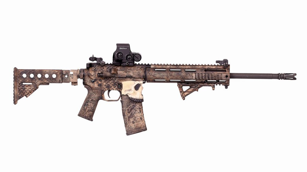 After full draug treatment by the experts at Odin's Workshop, the author's 5.56 AR looks nothing short of amazing.