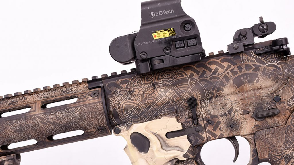Who wouldn't want a black-toothed skull available to gobble up their mags on reloads?