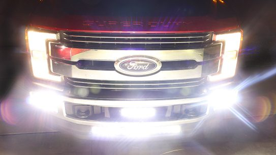 The LED light bar, from Baja Designs, will give you a distinct advantage over the night.