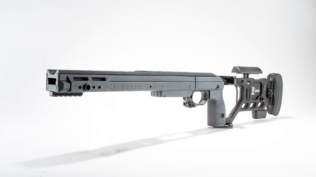 The KRG Whiskey 3 features the simplest design of the 7 top rifle chassis.
